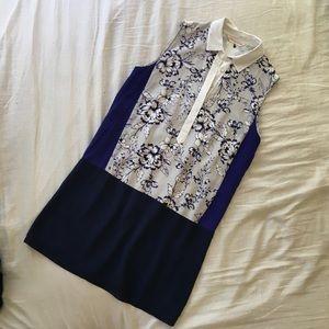 Rebecca Taylor Silk Floral Shift Dress